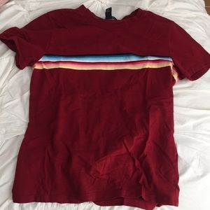 Maroon tee, says size L but fits more like a S/M